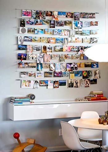 Varal de fotos e de lembranças boas via http://www.viladoartesao.com.br/blog/2013/03/fotos-cartoes-e-postais-faca-um-varal/: