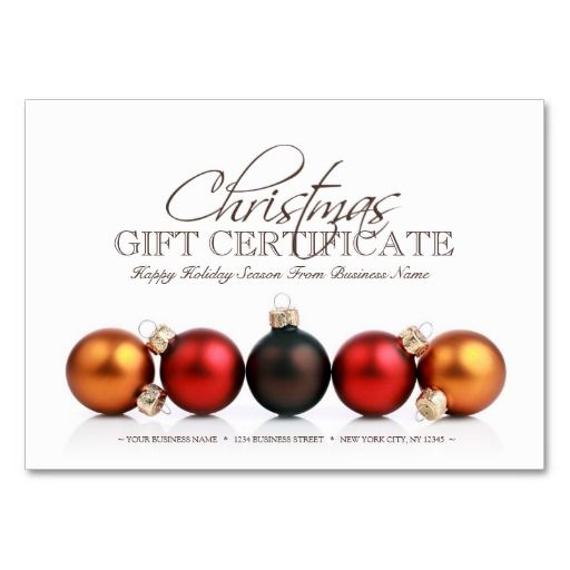 Christmas Holiday Season Gift Certificate Template Gift