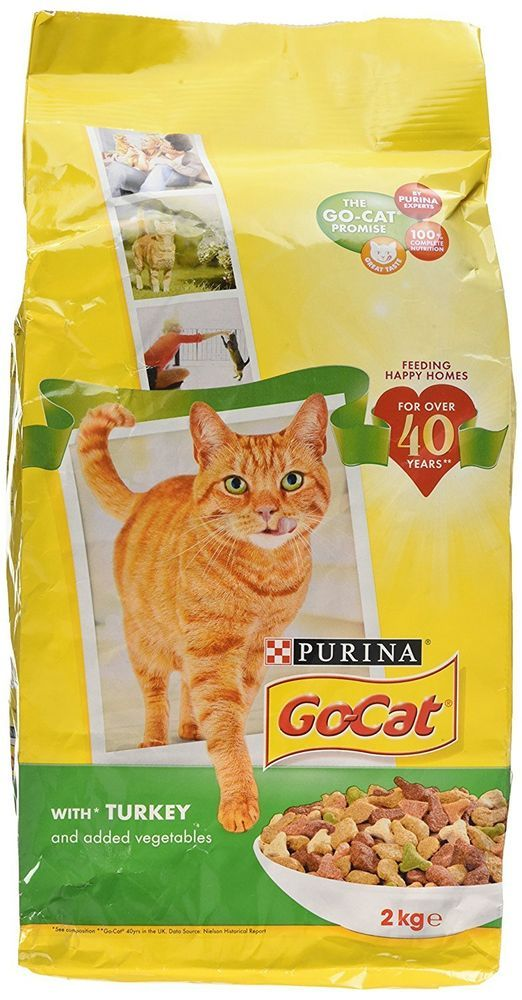 Go Cat Pet Food With Turkey And Vegetables 2 Kg Pack Of 4 Gocatpurina Dry Cat Food Cat Nutrition Food Animals