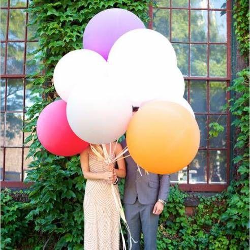Ballon géant blanc 90cm: