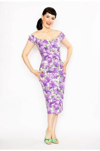 Lilac Scarlett Dress by Bernie Dexter. Love this style!