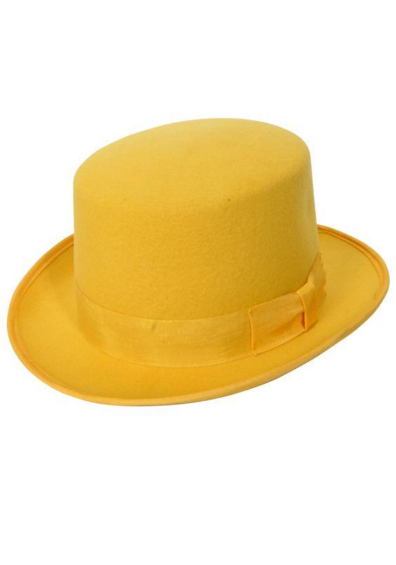 chapéu amarelo