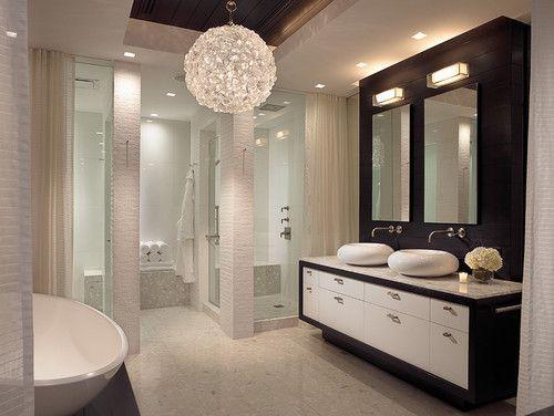 Bathroom Chandeliers Design Ideas, Small Contemporary Bathroom Chandeliers