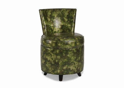 The Picabo Chair dazzles in reptilian Venus Charleuse leather