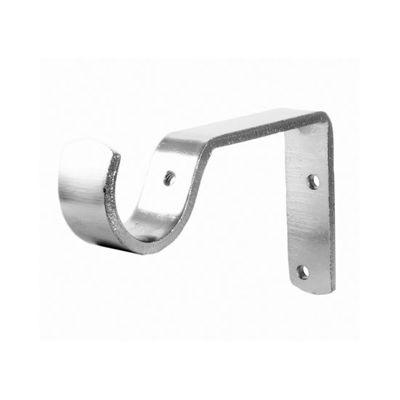 Brushed Nickel 3″ Proj. Basic Curtain Rod Brackets | METROPOLITAN ...