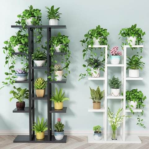 New 6 Tie Standing Flower Shelf Living Room Balcony Plant Shelf