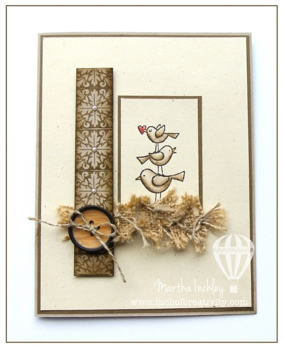 Inch of Creativity: For the Birds Card. #stampinup #forthebirds #inchofcreativity