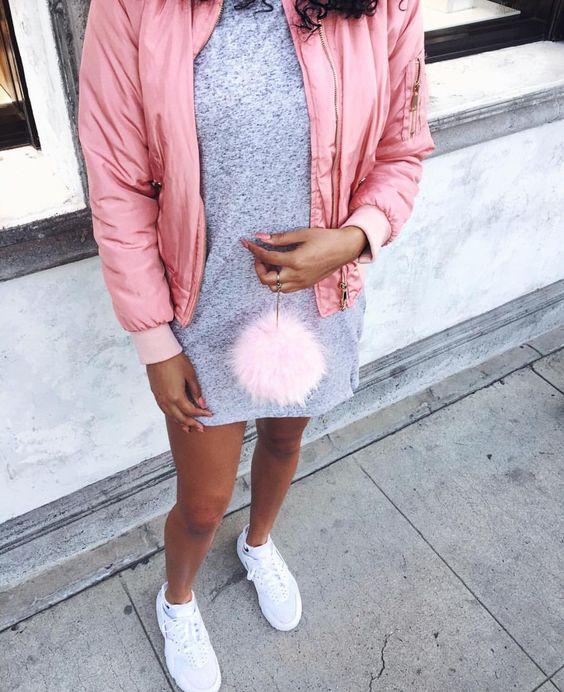 Pink Bomber Jacket: