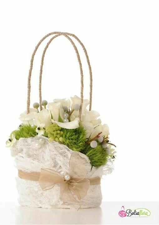 Lacey floral purse