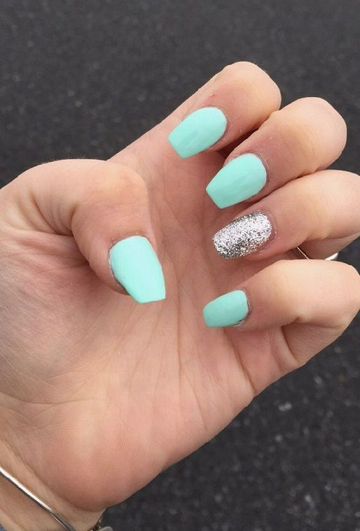 22 Trendy Spring Summer Nails Ideas 2018 Pics Bucket Short Coffin Nails Designs Tiffany Blue Nails Coffin Shape Nails