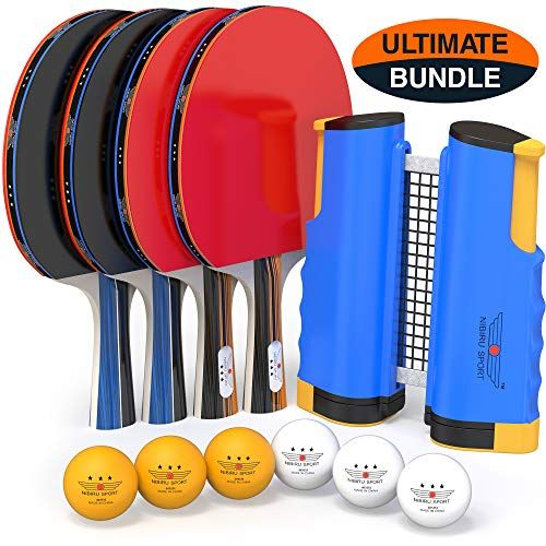 Professional Ping Pong Paddle Set With Retractable Net Balls And Posts 3 Star Regulation Table Tennis Accessories Advanced Home Indoor Or Outdoor Play S Table Tennis Table Tennis Set Ping