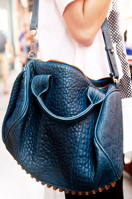 NYC #streetstyle #AlexanderWang bag