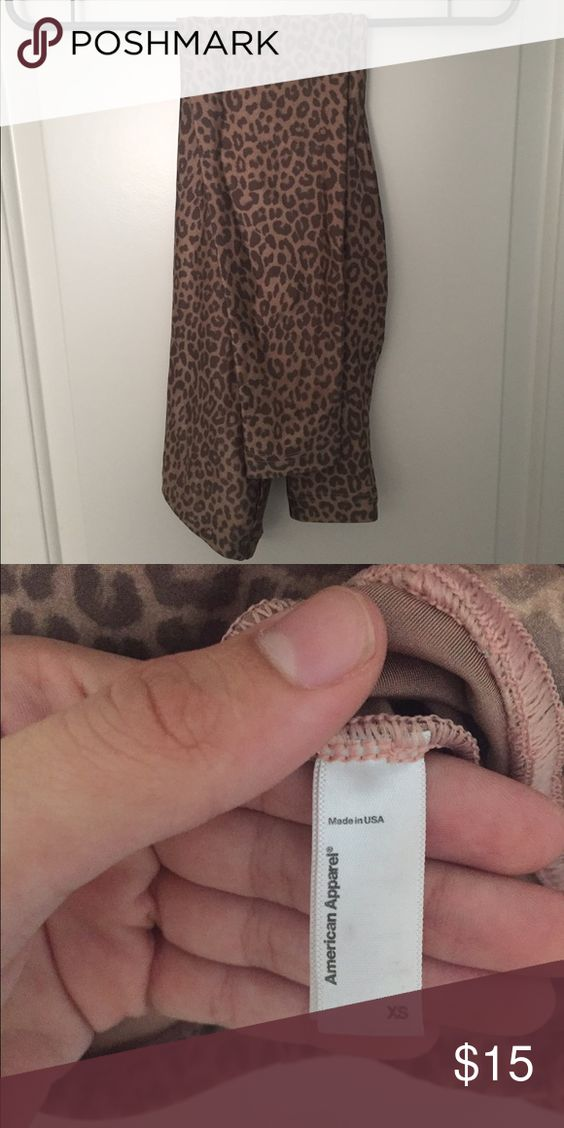 American Apparel Cheetah Leggings Stretchy! American Apparel Pants Leggings