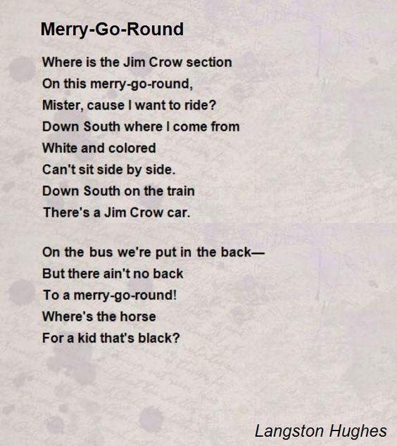 Merry-Go-Round Poem by Langston Hughes - Poem Hunter