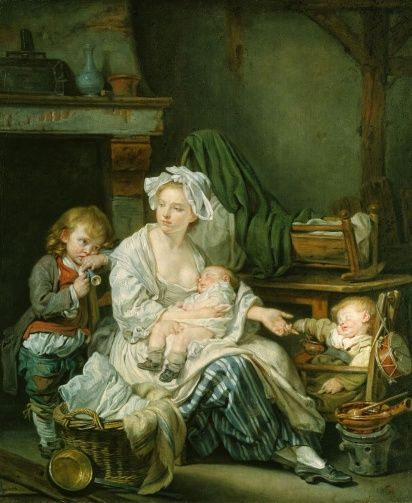 'Silence!'Creator: Jean-Baptiste Greuze (1725-1805) (artist) Creation Date:  1759 Materials:  Oil on canvas