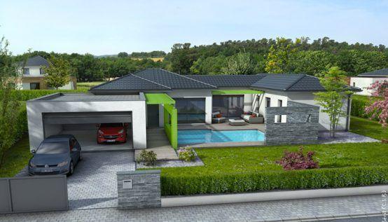 Plan maison contemporaine Olivine maison Pinterest