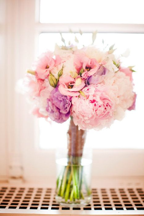 Bouquet mari e rose lisianthus pivoine mariage en rose - Bouquet mariee rose ...