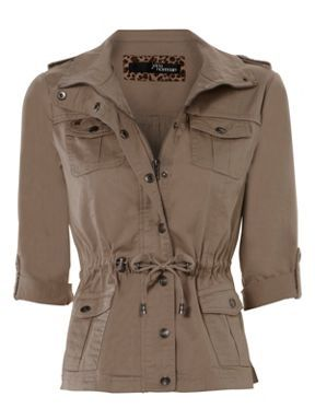 Jane Norman 4 pocket waisted jacket Stone - House of Fraser