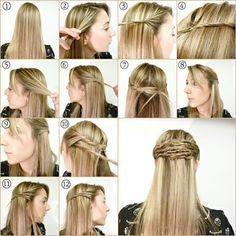 Peinados Faciles Y Bonitos, Hacer Peinados, Peinados De, Peinado Pelo, Peinado Para, Paso Buscar, Para Hacer, Explicado Paso, Semirecogido Enrollado