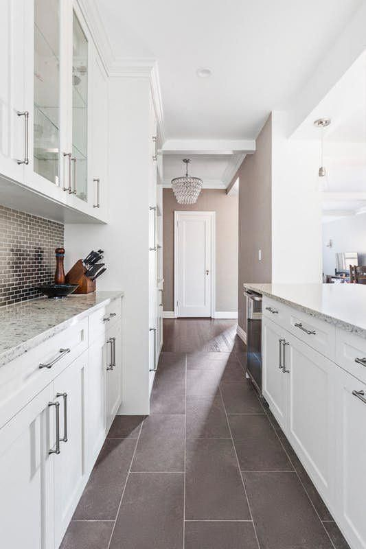Before After A Remodeled Galley Kitchen Opens Up Galley