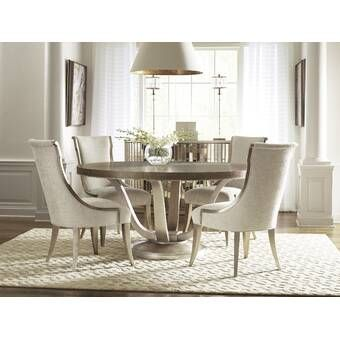 Lexington Oyster Bay 6 Piece Extendable Dining Set Reviews Wayfair Side Chairs Dining Upholstered Dining Side Chair Round Dining Table Sets
