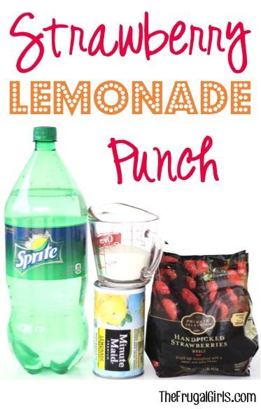 Strawberry lemonade punch punch recipes and strawberry lemonade on