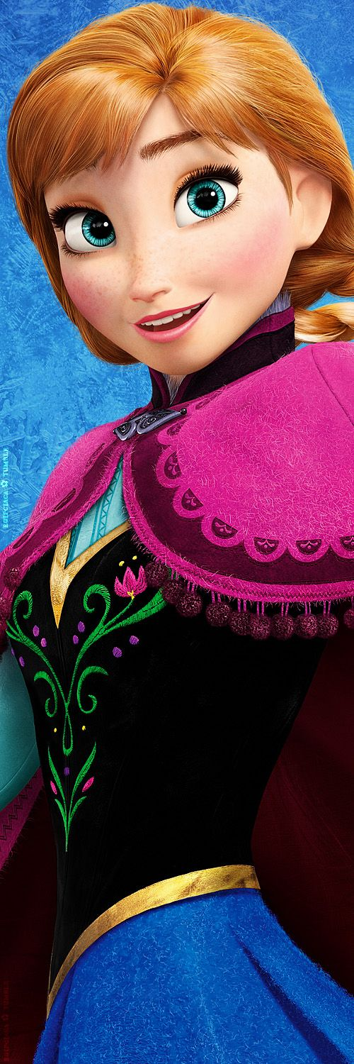 Disney frozen- Wow... Every tiny detail, the streaks of sky-blue in her eyes, the spots of shines, the tiny hairs forming her eyebrows- I love how they made her cloak too... The tiny white wooly stitches, and fluff around the collar... Inspiring...: