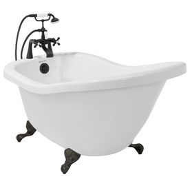 Clawfoot bathtub chelsea and clawfoot tubs on pinterest Cast iron tubs vs acrylic