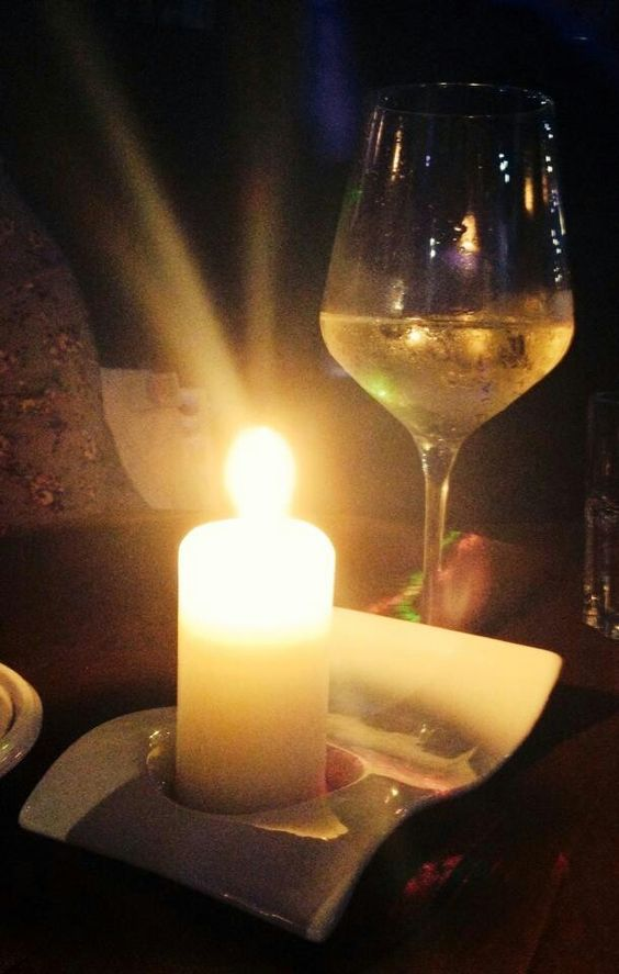 Wine and candlelight. Yes.: