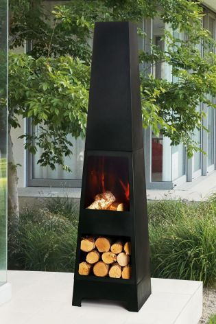 Suitable for any garden but boasting a contemporary design, lighten up your summer evenings the Malmo Chiminea from Next.