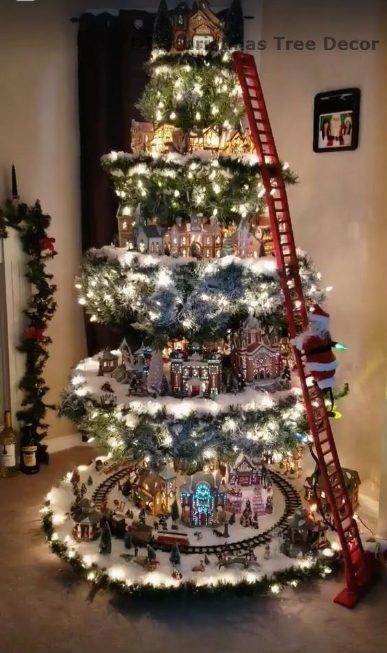 11 Amazing And Ingenious Christmas Tree Toppers Diy Christmas Village Christmas Tree Decorations Diy Christmas Tree Village Display