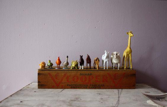 vintage. plastic. animals.