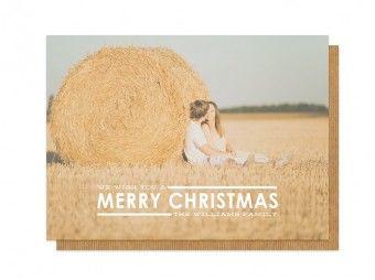 Simple Merry Christmas Overlay Photocards #christmas #christmascards #photocards