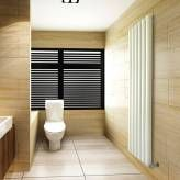 Large white contemporary radiators look great in bathrooms