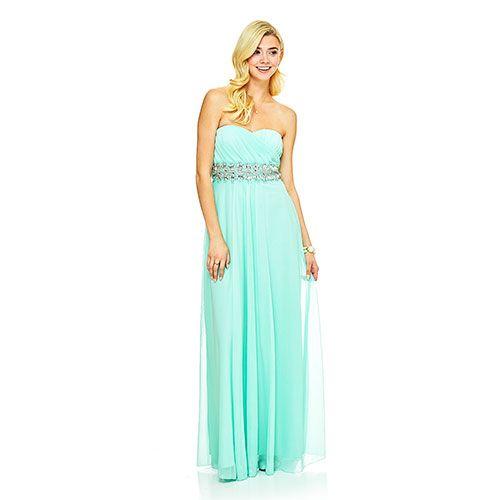 Juniors Sequin Heart Jeweled Strapless Dress - Boscov&-39-s - Dresses ...