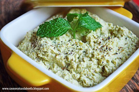 Pesto de ervilha com ricota