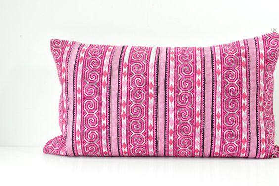 RARE VINTAGE Handmade Boho Bohemian ikat Aztec Textile by Tshaj