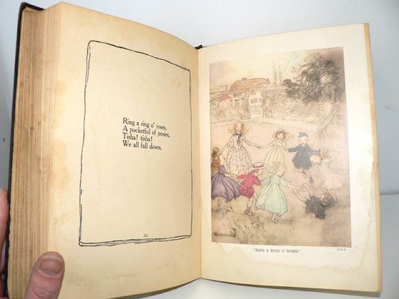 Awesome edition of Mother Goose, c. 1913, illustrated by Arthur Rackham.