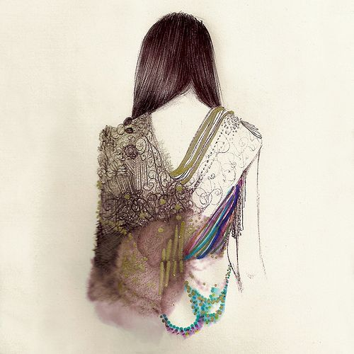 Fashion illustration by Camilia do Rosario: