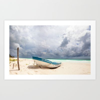 Tropical Tulum Art Print by Kim Bajorek - $19.00