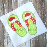 Flip Flops Santa Hat