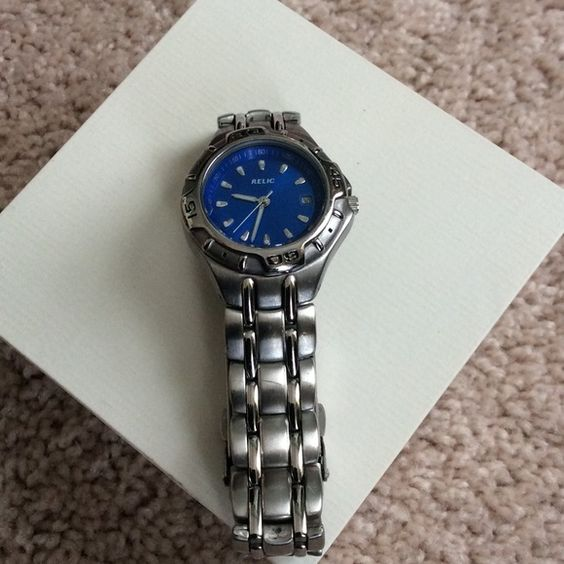 Last Chance Donating Silver Relic Watch Beautiful Brushed