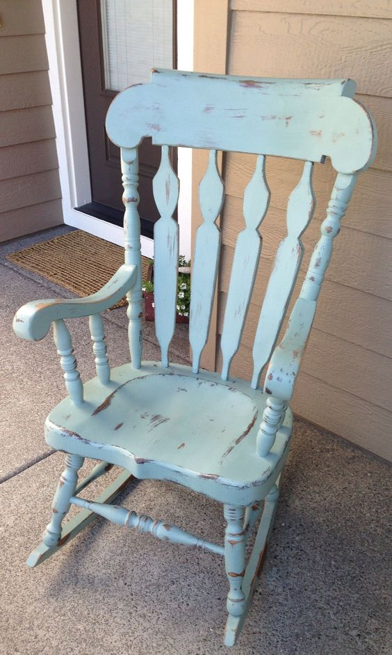 Shabby chic rocking chair country things i love for Schaukelstuhl diy