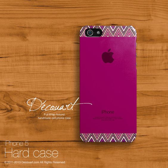 iPhone 5s case, Chevron iPhone 5 case, case for iPhone 5, orchid burgundy with apple logo S560