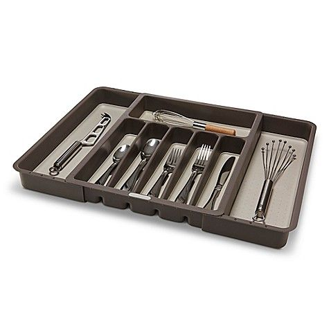 Madesmart Expandable Cutlery Tray In Grey Cutlery Tray Utensil