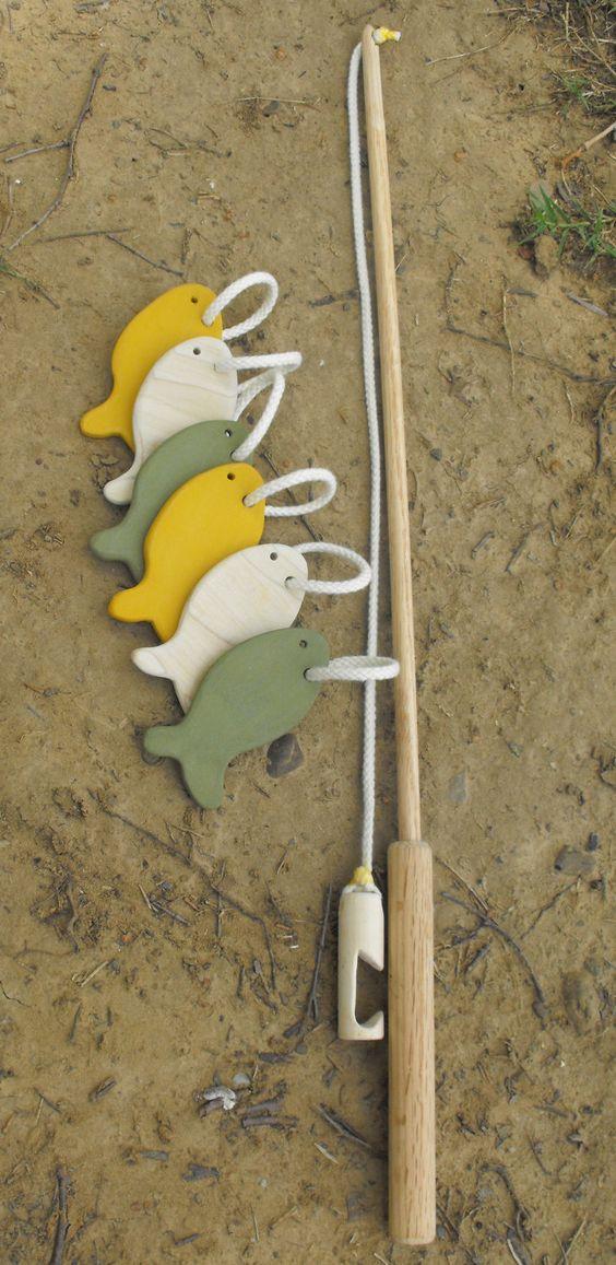 Under the Moon Fishing Set by BornAtHomeToys on Etsy, $20.00: