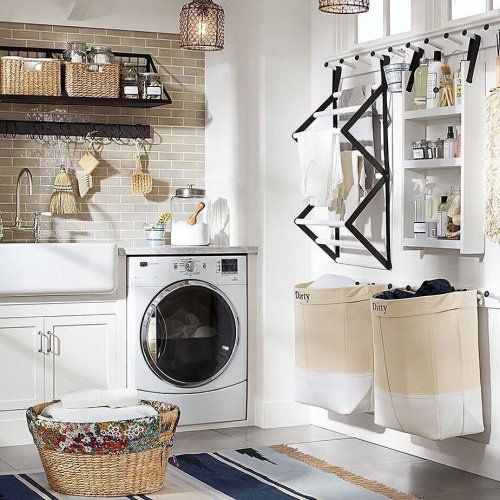 Ws Pottery Barn With Images Laundry Room Design Small