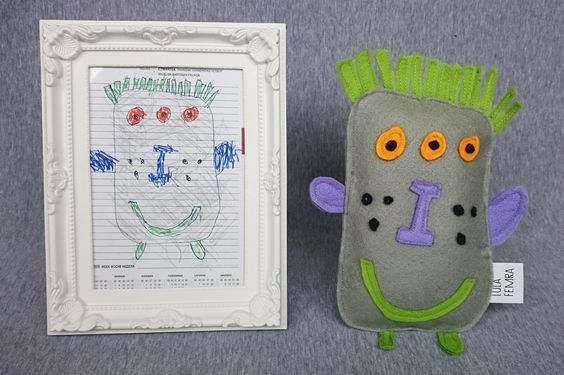 A toy from my sister's drawing. 100% handmade, felt