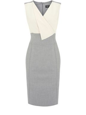 Oasis Fold front 2 in 1 dress Grey - House of Fraser