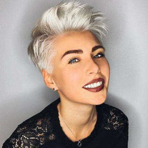 Haben Sie Alle Weisse Haare Farben Versucht Diese Beispiele Kuhlen Kurze Frisuren Sind Vor Allem Bestimmt Fu Kurze Weisse Haare Coole Frisuren Kurzhaarfrisuren
